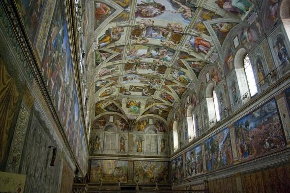 Lukisan Michelangelo dari Langit-langit Kapel Sistina